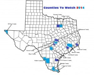 Texas Counties To Watch 2014