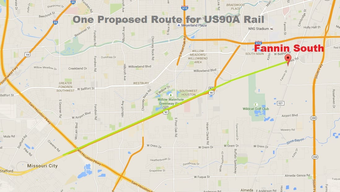 Houston US A Rail Project Texas Leftist - Us map of commuter railroads