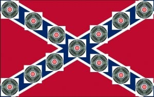 Caonfederate Flag Mine Field