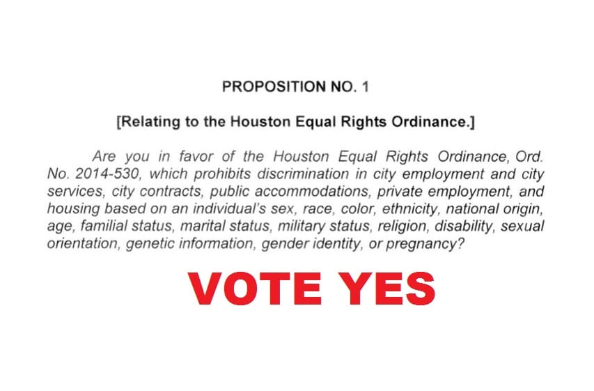Final Ballot Language Approved for Houston Equal Rights Ordinance   Texas Leftist. Final Ballot Language Approved for Houston Equal Rights Ordinance